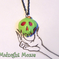 Poison Apple Snow White Inspired Pendant Necklace by MidnightMoxie