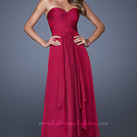 Strapless Classic Prom Gown by La Femme