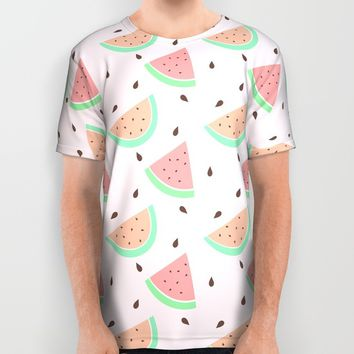 Cute Watermelon All Over Print Shirt by Adorkible