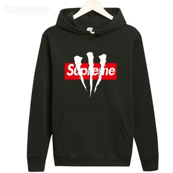 supreme A long sleeved couples dress Hoodie