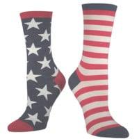 Vintage Inspired American Flag Socks