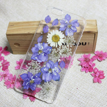 Nature Pressed flower Samsung Note 5 case,Purple Dried flower Galaxy S6 case,Resin flower Samsung note 4/3/2,Galaxy S3/S4/S5/S6 edge+ #53475