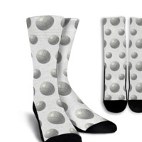 Volleyball Crew Socks White