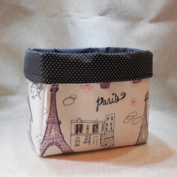 Lovely French Fabric basket