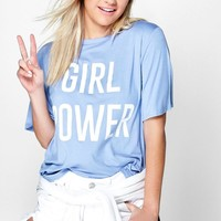 Florence Girl Power Slogan Tee | Boohoo