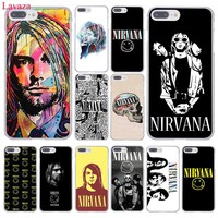 Lavaza Nirvana Kurt Cobain Hard Coque Shell Phone Case for Apple iPhone 8 7 6 6S Plus X 10 5 5S SE 5C 4 4S Cover