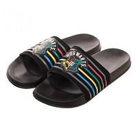 Harry Potter Hogwarts Black Slide Sandals