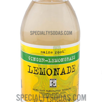 Maine Root Ginger Lemongrass Lemonade 16oz Glass Bottle
