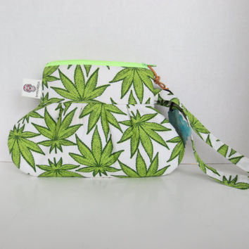 420 - Cannabis Clutch - Sativa clutch - Colorado - Legal - Medical pot - Clutch - Wristlet Marijuana