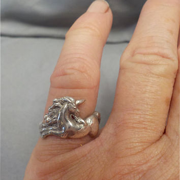Sterling Silver Sz 6 Unicorn Ring