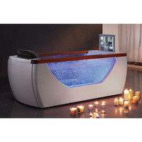 "EAGO 71.63"" x 31.88"" Whirlpool Bath Tub with TV Screen"