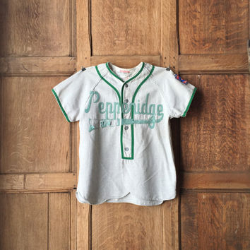 Vintage Baseball Jersey, Little League Baseball Jersey, Cotton Wool Baseball Jersey, Baseball Decor
