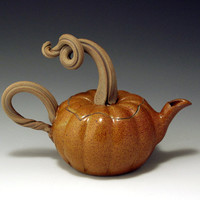 Hand Thrown Stoneware Pumpkin Teapot