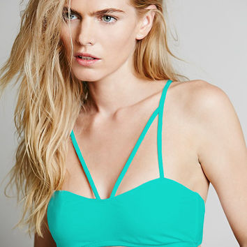 Green Strappy Back Bra Top