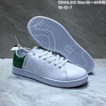 HCXX A463 Adidas Stan Smith Suede Leather Casual Skate Shoes White Green