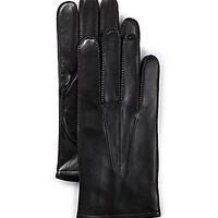 Fownes Thinsulate-Lined Leather Gloves - Black