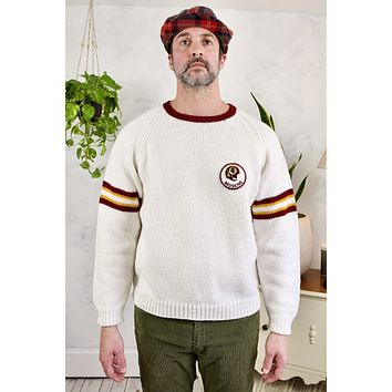 Vintage Washington Redskins Handknit Sweater