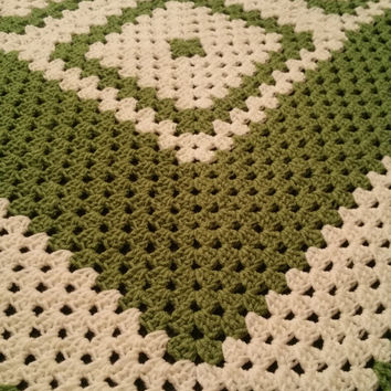 crochet handmade granny square blanket aran wool L45 W45 ins perfect to use or ideal gift free uk delivery ship international
