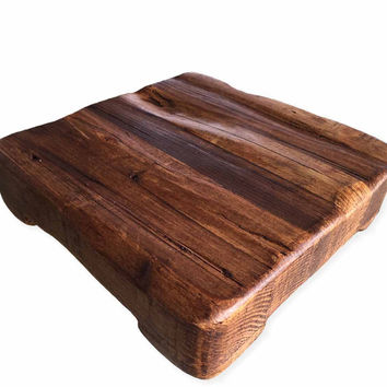 Square Wooden Trivet from Reclaimed Timber (Medium)