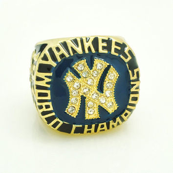 Fans Gift Rings For Men 2015 Fashion Sport Jewelry 1977 NY World Series Championship Ring Custo