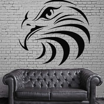 Eagle Head Birds Air Tribal Simbol Decor Wall MURAL Vinyl Art Sticker Unique Gift z775