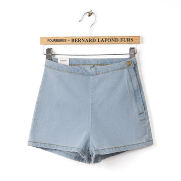 Denim High Rise Shorts [5013360324]
