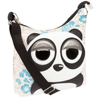 Panda Sleepyville Face Canvas Cross Body Shoulder Bag