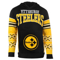"Pittsburgh Steelers Official NFL ""Big Logo"" Hooded Sweatshirt by Klew"