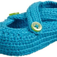 Jefferies Socks Crochet Criss Cross Mary Jane Shoe