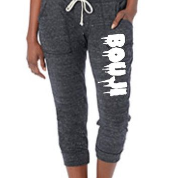 Cropped Jersey Jogger Pants