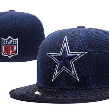 ESB8KY Dallas Cowboys New Era 59FIFTY NFL Football Hat Blue-White