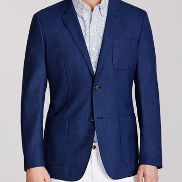 Unconstructed Blazer Slim - Lightweight Italian Wool - Navy