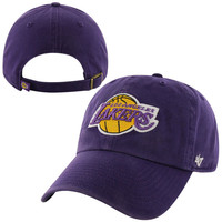 LOS ANGELES LAKERS '47 PURPLE CLEAN UP HAT