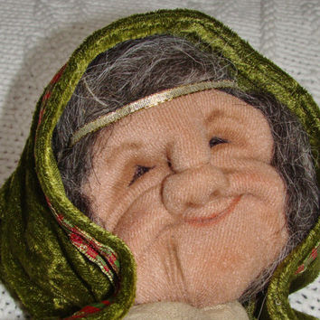 Spirit & Healing Doll Celtic Comfort Crone soft sculpture OOAK cloth doll