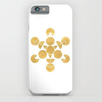 ICOSAHEDRON FRUIT OF LIFE minimal sacred geometry iPhone & iPod Case by deificus Art