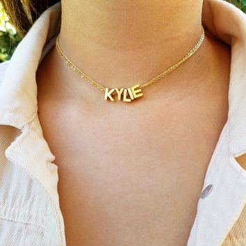 Capital Letter Name Choker