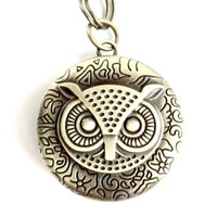 Owl Pocket watch antique brass owl Handmade