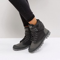 Palladium Pampa Solid Ranger Gray Flat Ankle Boots at asos.com