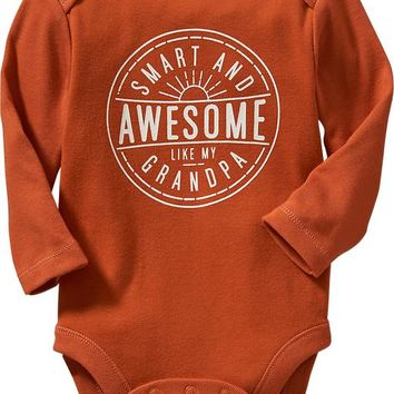 Old Navy Long Sleeve Family Graphic Bodysuits For Baby