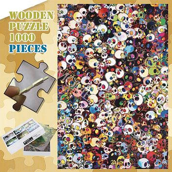 Skull Wooden Jigsaw Puzzles 300, 500, & 1000 Pieces
