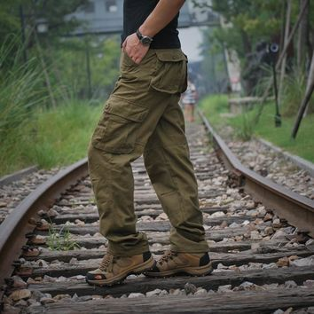 Casual Fashion Safari Style Cargo Pants Full Length Army Kanye West Trousers Baggy  Baggy Pants Streetwear
