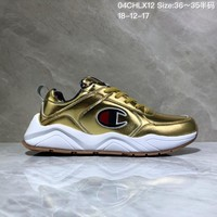 KUYOU C030 Champion x Casbia Awol Atlanta Leather Sneaker Ratro Casual Running Shoes Gold