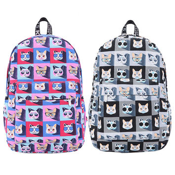 2016 Fashion Brand Animal Print Women Canvas Backpack New Designer Preppy Styke School Bag for Teenager Girl Mochila Backpack