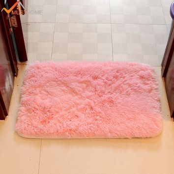 40*60cm/15.74*23.62in Modern Bathroom bath mat anti-slip Rectangle shaggy bath mat for bathroom