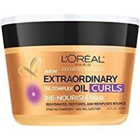 L'Oreal Paris Hair Expert Extraordinary Oil Curls Re-Nourish Mask, 8.5 fl. oz. (Packaging May Vary)
