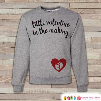 Valentine's Pregnancy Reveal - Little Valentine in the Making - Red Heart, Baby Feet - Pregnancy Announcement - Valentine's Pregnancy Reveal