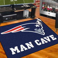 "New England Patriots Man Cave 34""x45"" All-Star Area Rug Mat"
