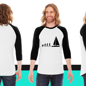 sailing evolution American Apparel Unisex 3/4 Sleeve T-Shirt