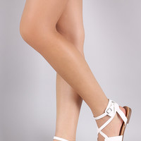 Breckelle Infinity Straps Flat Sandal