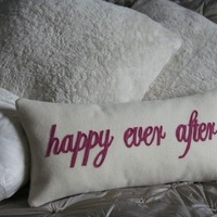 happy ever after handmade felt cushion